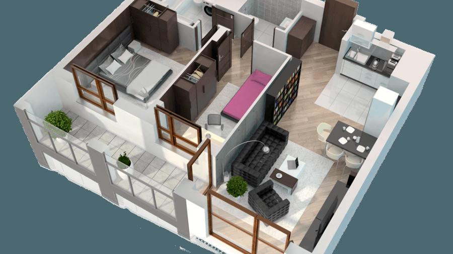 A062 | 3 pokoje, 58,67m